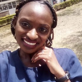 Ann Matekwa is a  third year student at Kenyatta University, pursuing Gender and development. She is passionate in assisting and empowering people in the society and making impacts in their lives.